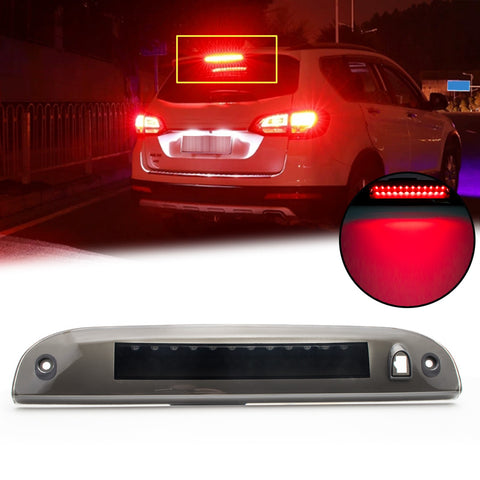 Smoked Lens 12-SMD LED 3rd Third Brake Light High Mount Stop Tail Cargo Lamp for Jeep Cherokee 1997-2001
