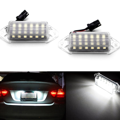 2pcs OEM Replace White Error Free LED License Plate Light Lamp for Mitsubishi Lancer 2003-2017