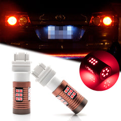 2x 30-SMD LED 3157 4157 3757A S25 Bulb for Brake Tail Stop Light Front Rear Turn Signal Lamp Parking Backup Reverse Light DRL Error Free
