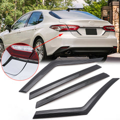 for Toyota Camry 2018 2019 Taillight Brake Light Eyebrows Strip Cover Trim, Carbon Fiber Style Rear Lamp Eyelid Molding Decoration