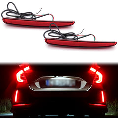 LED Brake Tail Light Rear Bumper Reflector for Honda Civic TYPE R Hatchback 2017 2018