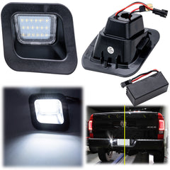 OEM Replace White LED License Plate Light for Dodge Ram 1500 2500 3500 2003-2018 - 18 SMD