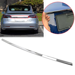 Stainless Steel Rear Trunk Lid Moulding Cover Trim Guard for Tesla Model 3 2018 201