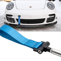 Blue / Black / Red JDM Style Tow Hole Adapter with Towing Strap for Porsche Panamera 970 Carrera 911 991