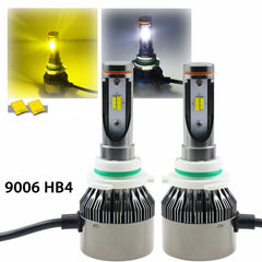9006 HB4 Light Headlight Kit LED Dual-color 3000K/6000K HID matching xenon white /yellow Chevrolet\Dodge\ Nissan\ GMC