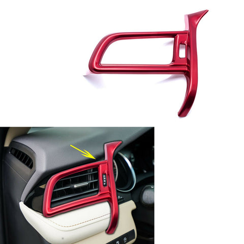 for Toyota Camry 2018-2019 Dashboard Left Side Air Vent AC Outlet Cover Frame Trim, Red Car Interior Decoration