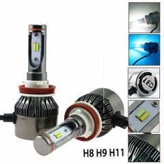 H11 H9 H8 Fog/Low/High Beam/ Dual Color Kit LED White & Ice Blue For Chevrolet Honda Ford  Daytime Running Light
