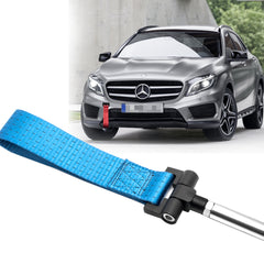 Blue / Black / Red JDM Style Tow Hole Adapter with Towing Strap for Mercedes C S ML CLA GLA Class