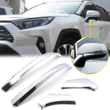 4pcs ABS Chrome Rear View Side Mirror Cover Molding Trim for Toyota RAV4 2019 2020