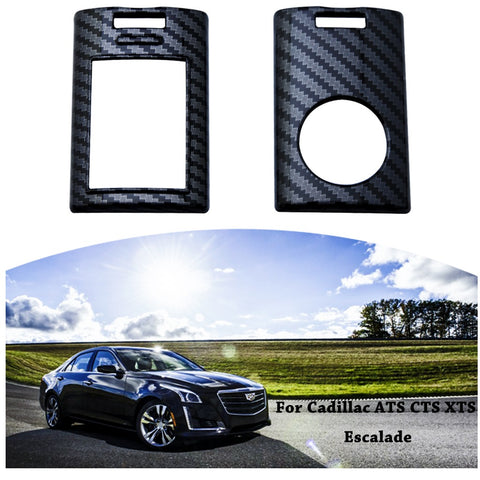Carbon Fiber Pattern Remote Smart Key Fob Cover Case for Cadillac ATS CTS XTS DTS Escalade