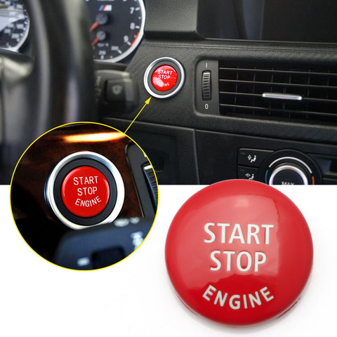 Red Start Stop Engine Button Switch Cover Trim for BMW X1 X3 X5 X6 E70 E71 E72 E90 E91 E92 E93 E60 E83 E84 320 520 525 328i 335i 330i