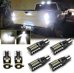 6pcs LED High Mount 3rd Brake Light + Backup Reverse Light + License Plate Light Package Kit White for Ford F-150 2009-2014