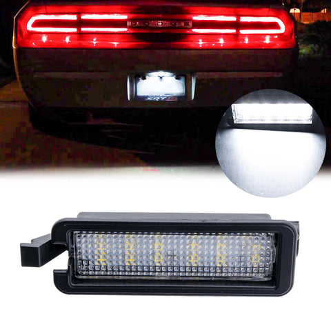 1x Xenon White OEM Replace LED License Plate Light for Dodge Charger Challenger 2015-2018 - 18-SMD
