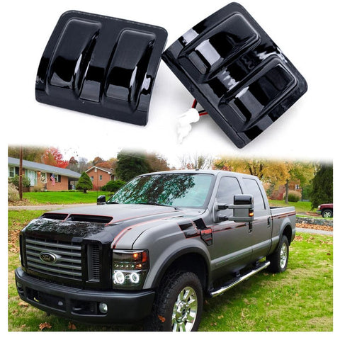 Dual Color White Amber Smoked Lens LED Side Mirror Marker Light for 2008-2016 Ford F250 F350 F450