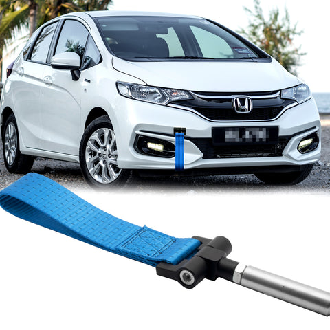 Blue / Black / Red Track Racing Style Towing Strap Tow Hole Adapter for Honda 3rd Gen Fit Jazz 2015-2018, Fit Acura TLX 2015-2018