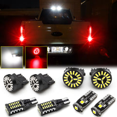 8pcs for Ford F-150 2015 2016 2017 LED High Mount Cargo Light + Backup Reverse Light + License Plate Lamp + Brake Stop Light, Bright White Red LED Tailgate Lamp Package Kit