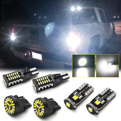 for GMC Sierra 1500 2500 LED High Mount Cargo License Plate Reverse Backup Light Kit Super Bright