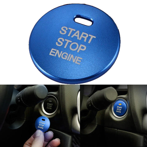 3D Metal Stainless Steel Start Stop Engine Push Button Decor Trim Cover for Mazda 3 6 CX-3 CX-5 CX-9 MX-5 Blue