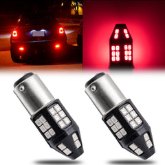 2pcs 1157 / 3157 / 7443 Red 40-SMD LED Flashing Strobe Brake Stop Tail Light Lamp