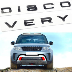 DISCOVERY Letter Decal 3D Badge Emblem ABS Sticker for 1994+ Land Rover Discovery Front Hood/ Rear Trunk Glossy Black