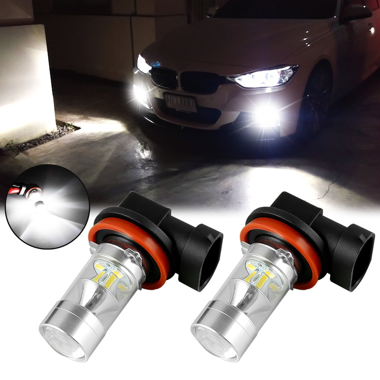Pair LH RH Bumper Headlight Washer Cover Lid For BMW E90 E91 LCI 328i 323i 335i