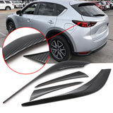 4pcs for Mazda CX-5 CX5 2017 2018 Taillight Rear Light Cover Trim, Sporty ABS Carbon Fiber Car Rear Lamp Cover Molding