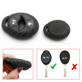 Carbon Fiber Pattern Silicone Key Fob Case Cover Protector for Mini Cooper MK1 R50 R52 R53 3-button Key