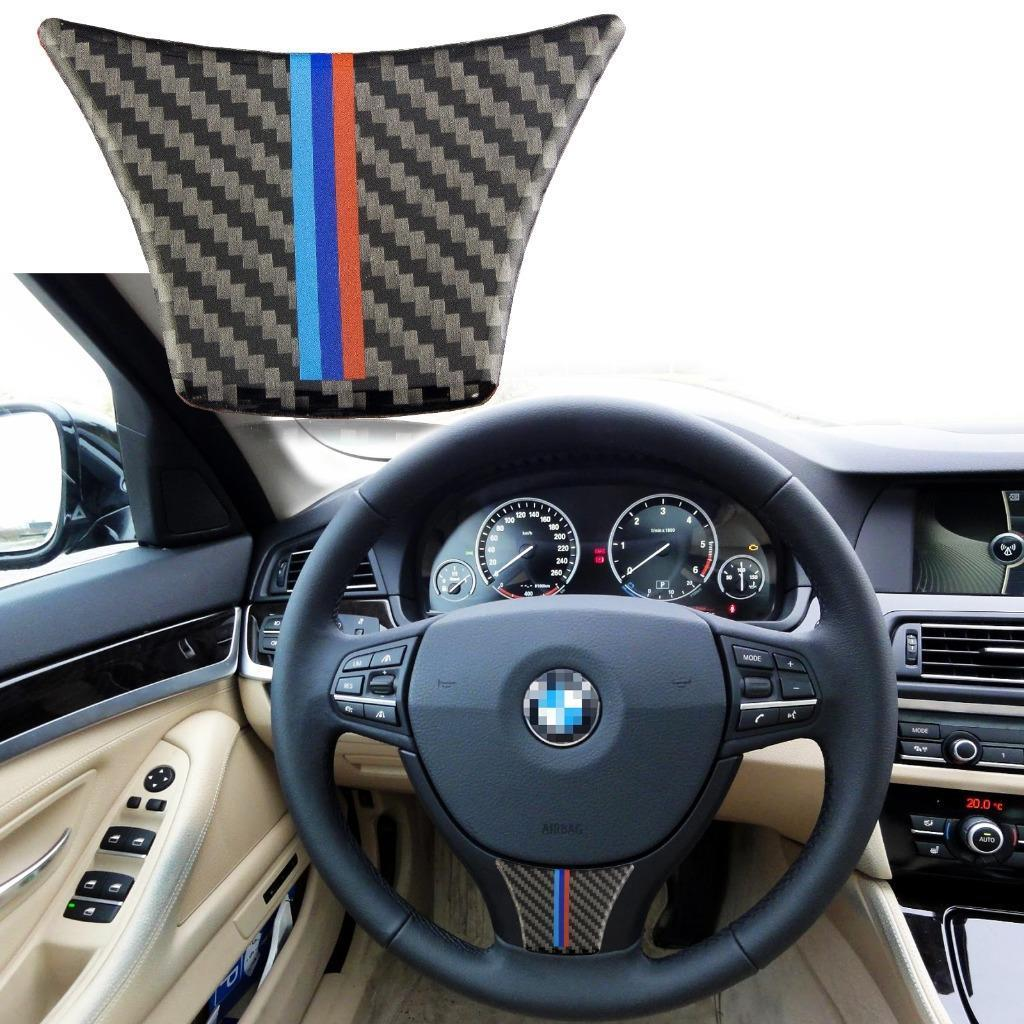 Carbon Fiber M Color Steering Wheel Trim Decal Decor Sticker For Bmw 5 Series F07