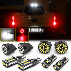 8pcs LED High Mount Cargo License Plate Reverse Brake Stop Light for Ford F-150 F150 2015 2016 2017