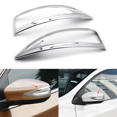2pcs ABS Chrome Rear View Side Door Mirror Signal Light Frame Cover Trim for Nissan Altima Sentra 2013-2017/ Maxima 2016-2019
