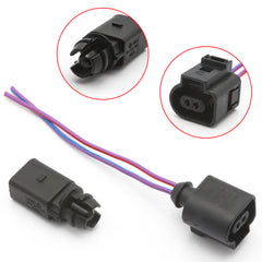 Ambient Air Temperature Sensor with 2-pin Connector Plug Wiring Harness Pigtail for Volkswagen / for Audi