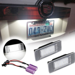 Xotic Tech Set White Can-bus 18 SMD LED License Plate Lights for Escalade Yukon Chevy Suburban Malibu