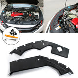 2pcs Engine Bay Side Panel Cover Replacement for Honda Civic 10th Gen 2016-2019