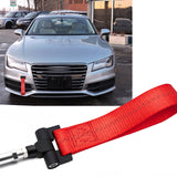 Blue / Black / Red JDM Style Tow Hole Adapter with Towing Strap for Audi A4 S4 A5 S5 A7 S7 RS7