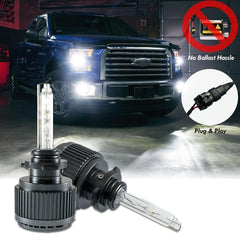 HID Headlight Replacement Bulb - 9005 Xenon White - Direct Fit 2015+ Ford F150 Halogen Light