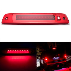 Red LED 3rd Brake Light Kit High Mont Tail Lamp Assembly for Ford Expedition 2003-2016
