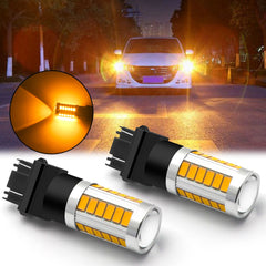 Amber/White 3157 LED Bulb Super Bright Projector Lens 3156 3056 3157KX 4157 3457 4157NAK 3757 T25 LED Turn Signal Blinker Light Brake Tail Parking Lamp