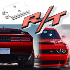 1 x Red RT R/ T Letter Badge Emblem Sticker for Mopar Dodge Charger Challenger Grille Trunk Lid