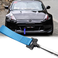 Blue / Black / Red JDM Style Tow Hole Adapter with Towing Strap for Nissan 370Z GTR Juke/Fit Infiniti G37 Q60 QX70 FX35