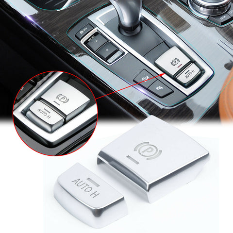 Electronic Handbrake Button Cover Car Parking Brake Switch Button Sticker Handbrake Parking AUTO H Button Frame Cap Trim for BMW F10 F07 X3 F25 X4 F26 X5 F15 X6 F16