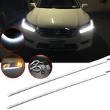 "2pcs 11.8"" / 18.5"" Xenon White LED Headlight Daytime Running Light Strip LED Assembly for Honda Accord Sedan 2013-2015 Retrofit"