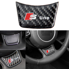 Xotic Tech Carbon Fiber Sline S Line Letter Decal Steering Wheel Decor Sticker for Audi A4 B8 A3 A6 C7
