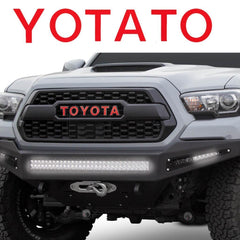 Vinyl Letter Decal Sticker for Toyota Tacoma TRD PRO Grille 2016 2017 2018 Glossy Red/ Glossy Black/ Brushed Silver/ Brushed Gold