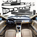 5D Glossy Reflective Carbon Fiber Wrap Trim Decal Vinyl Interior Sticker for BMW 3 Series E90 2005-2012