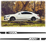 2x Sports Racing Car Graphics Side Lower Body Vinyl Long Stripe Decal Stickers