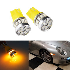 2 x T10 Super bright Amber 3014 18 SMD LED Side Marker Lights Bulb T10 194 168 2825