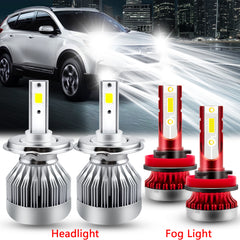 for Honda CRV CR-V 2007-2014 LED Headlight High Low Beam Fog Light Bulb Package Super Bright Xenon White
