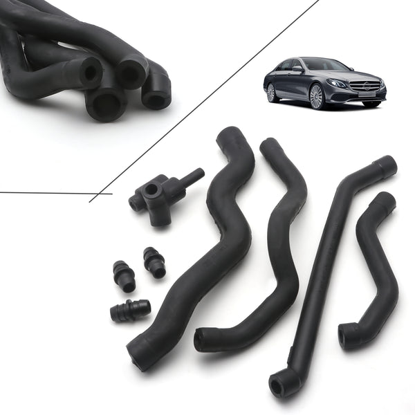 New Engine Crankcase Breather Hose Set W//Connectors For Mercedes W202 W203 W210