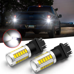 White 33-SMD 3157 3156 LED Backup Reverse Light Bulb for Ford F-150 F-250 1991-2018