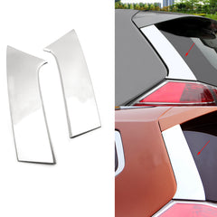 2pcs Stainless Steel Car Rear Window Spoiler Pillar Cover Trunk Wing Side Trim for Nissan Rogue T32 X-Trail 2014-2019